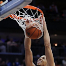 Syracuse's Michael Carter-Williams dunks during the first half of an NCAA college basketball game against Seton Hall on Saturday, Feb. 16, 2013, in Newark, N.J. (AP Photo/Bill Kostroun)