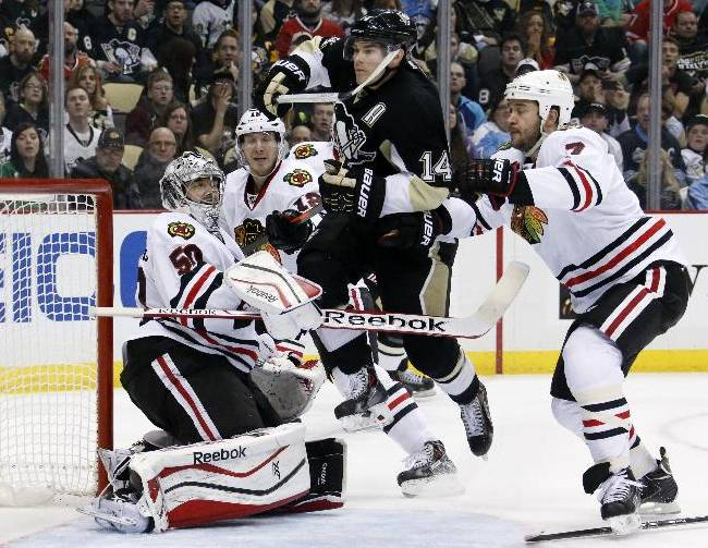 Crosby helps Penguins beat Blackhawks 4-1