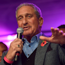 Atlanta Falcons owner Arthur Blank speaks on stage during the NFL Fan Rally in Trafalgar Square, London, England, Saturday, Oct. 25, 2014. The Atlanta Falcons will play the Detroit Lions in an NFL football game at London's Wembley Stadium on Sunday Oct. 2