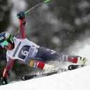 Ted Ligety, of United States, races down the course during an alpine ski, men's World Cup giant slalom competition, in Garmish Partenkirchen, Germany, Sunday, March 1, 2015. (AP Photo/Marco Trovati)