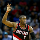 CHARLOTTE, NC - NOVEMBER 26: Wesley Matthews #2 of the Portland Trail Blazers reacts after making a shot against the Charlotte Hornets during their game at Time Warner Cable Arena on November 26, 2014 in Charlotte, North Carolina. (Photo by Streeter Lecka/Getty Images)