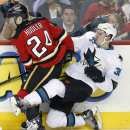 Couture leads Sharks to 3-2 win over Flames The Associated Press