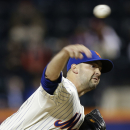 New York Mets' Dillon Gee delivers a pitch during the first inning of a baseball game against the St. Louis Cardinals Tuesday, April 22, 2014, in New York The Associated Press