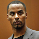 FILE - In this Feb. 20, 2014, file photo, former NFL safety Darren Sharper appears in Los Angeles Superior Court in Los Angeles. Sharper is moving closer to resolving charges that he drugged and sexually assaulted women in four states. Sharper faces at least nine years in prison after having pleaded guilty or no-contest to charges that he distributed drugs with the intent to commit rape in Nevada, Arizona and California. He previously pleaded not guilty in New Orleans, but is set to change that plea Friday morning, May 29, 2015, in federal court. (Bob Chamberlin/Los Angeles Times via AP, Pool, File)