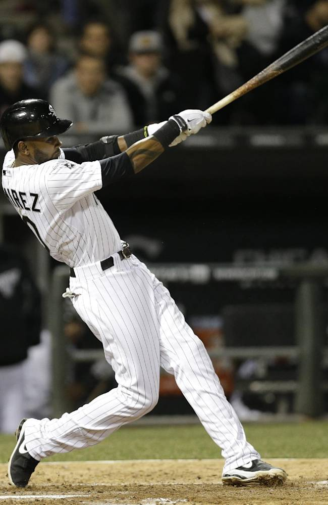 Abreu hits 2 more HRs, Chisox finally top Indians