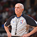 PHILADELPHIA, PA - FEBRUARY 18: NBA referee Dick Bavetta looks on during the game between the Cleveland Cavaliers and the Philadelphia 76ers at the Wells Fargo Center on February 18, 2014 in Philadelphia, Pennsylvania. (Photo by Jesse D. Garrabrant/NBAE via Getty Images)