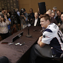 New England Patriots tight end Rob Gronkowski answers questions during a news conference Wednesday, Jan. 28, 2015, in Chandler, Ariz. The Patriots play the Seattle Seahawks in NFL football Super Bowl XLIX Sunday, Feb. 1, in Phoenix The Associated Press
