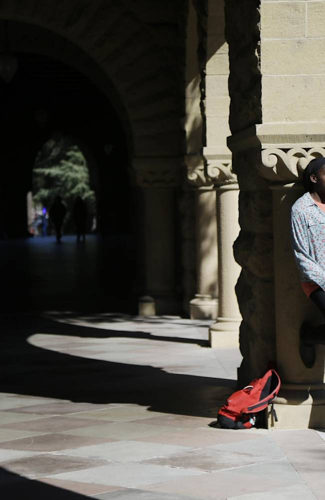 ADVANCE FOR WEEKEND EDITIONS, FEB. 22-23 - In this Feb. 19, 2014 photo, Chiney Ogwumike, a member of Stanford's NCAA college basketball team, poses for a portrait on the university's campus in Stanford, Calif