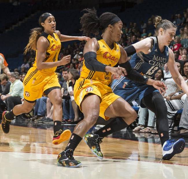 Moore, Whalen lead Lynx to 91-85 win over Shock