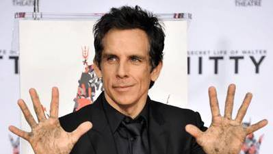 Ben Stiller Gets 'cemented' in Hollywood