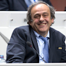 FILE - In this May 29, 2015 file picture FIFA vice president and president of the UEFA Michel Platini laughs during the 65th FIFA Congress at the Hallenstadion in Zurich, Switzerland Michel Platini has launched his campaign to succeed Sepp Blatter as FIFA president, aiming to give the scandal-hit governing body