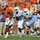 CLemson's Sammy Watkins (2) runs on his way to a touchdown as Furman's Greg Worthy (32) and Cortez Johnson (18) chase during the first half of an NCAA college football game, Saturday, Sept. 15, 2012, in Clemson, S.C. (AP Photo/Rainier Ehrhardt)