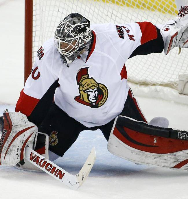 Sens sign goalie Robin Lehner to 3-year extension