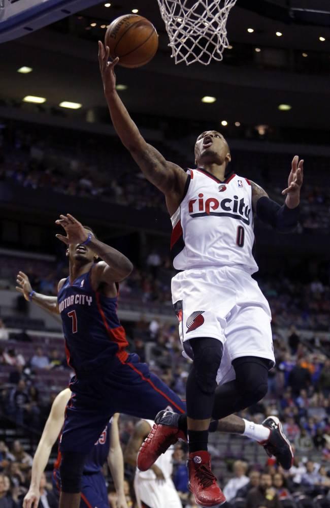 Lillard's shot lifts Blazers over Pistons in OT