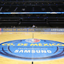 MEXICO CITY, MEXICO - DECEMBER 4: A shot of the court before the game between the San Antonio Spurs and the Minnesota Timberwolves on December 4, 2013 at Arena Ciudad de México in Mexico City, Mexico. (Photo by David Sherman/NBAE via Getty Images)