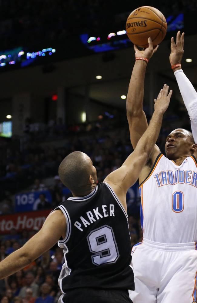 Durant, Thunder end Spurs' 19-game win streak
