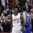 Los Angeles Clippers' Darren Collison reacts after making a basket against the Dallas Mavericks during the second half of an NBA basketball game on Thursday, April 3, 2014, in Los Angeles. The Mavericks won 113-107 The Associated Press