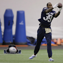 New England Patriots cornerback Brandon Browner (39) catches a pass before practice begins at the NFL football team's facility Wednesday Oct. 1, 2014 in Foxborough, Mass. The Patriots, 2-2, took a drubbing by the Kansas City Chiefs on Monday Night Footba