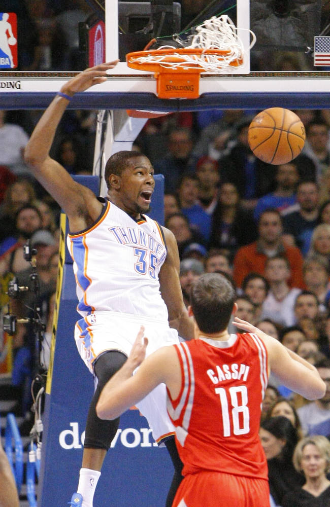 Thunder rout tired Rockets 117-86