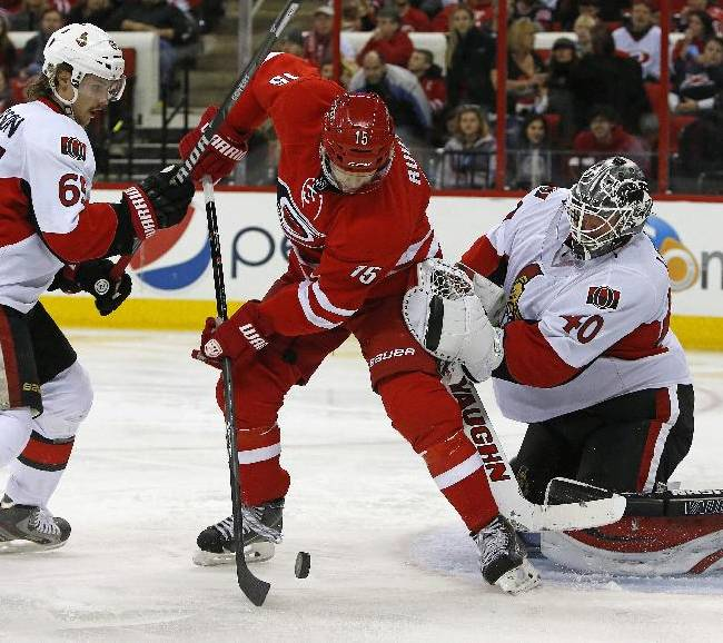 Staal, Ward lead Hurricanes over Senators 4-1