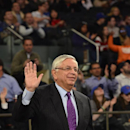 NEW YORK, NY - JANUARY 30: NBA Commissioner David Stern is honored during a game between the Cleveland Cavaliers and the New York Knicks at Madison Square Garden in New York City on January 30, 2014