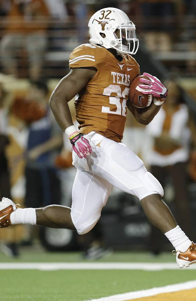 Gray's 2 TDs send Texas over Kansas State, 31-21