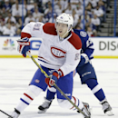 Montreal Canadiens center Lars Eller (81), of Denmark, shoots against the Tampa Bay Lightning during the first period of Game 2 of a first-round NHL hockey playoff series Friday, April 18, 2014, in Tampa, Fla The Associated Press