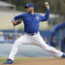 Toronto Blue Jays starting pitcher Mark Buehrle throws a pitch during the first inning of an exhibition baseball game against the Tampa Bay Rays Friday, March 7, 2014, in Dunedin, Fla The Associated Press