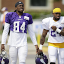 Minnesota Vikings wide receiver Cordarrelle Patterson, left, and cornerback Captain Munnerlyn walk to the field before an NFL football training camp practice, Wednesday, July 30, 2014, in Mankato, Minn The Associated Press