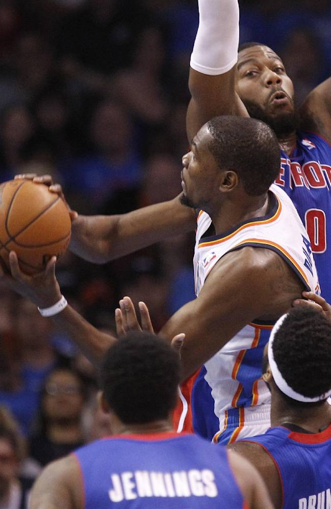 Durant has 42, Thunder beat Pistons 112-111