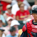 Boston Red Sox catcher Christian Vazquez (7) is shown against the St. Louis Cardinals in an exhibition spring training baseball game Monday, March 9, 2015, in Jupiter, Fla. Boston won 3-0. (AP Photo/John Bazemore)