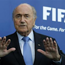 FIFA President Sepp Blatter addresses the media after meeting the presidents of the soccer federations of Israel and Palestine at the FIFA headquarters in Zurich September 3, 2013. REUTERS/Arnd Wiegmann