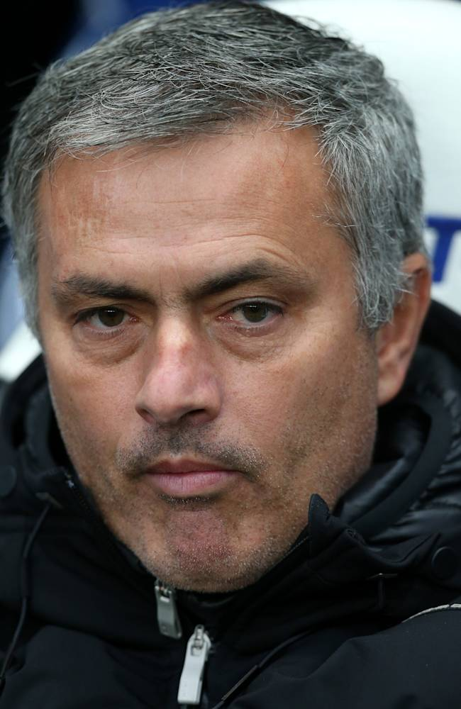 Chelsea's manager Jose Mourinho  ahead of their English Premier League soccer match against Newcastle United at St James' Park, Newcastle, England, Saturday, Nov. 2, 2013,  which they lost 2-0