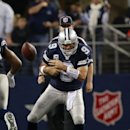Dallas Cowboys quarterback Tony Romo fumbles during the second half of an NFL football game Thursday, Nov. 28, 2013, in Arlington, Texas The Associated Press