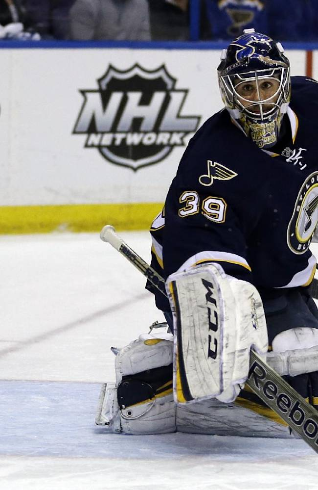 Red Wings keep Blues down with 3-0 shutout