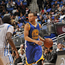ORLANDO, FL - NOVEMBER 26: Stephen Curry #30 of the Golden State Warriors handles the ball against the Orlando Magic during the game on November 26, 2014 at Amway Center in Orlando, Florida. (Photo by Fernando Medina/NBAE via Getty Images)