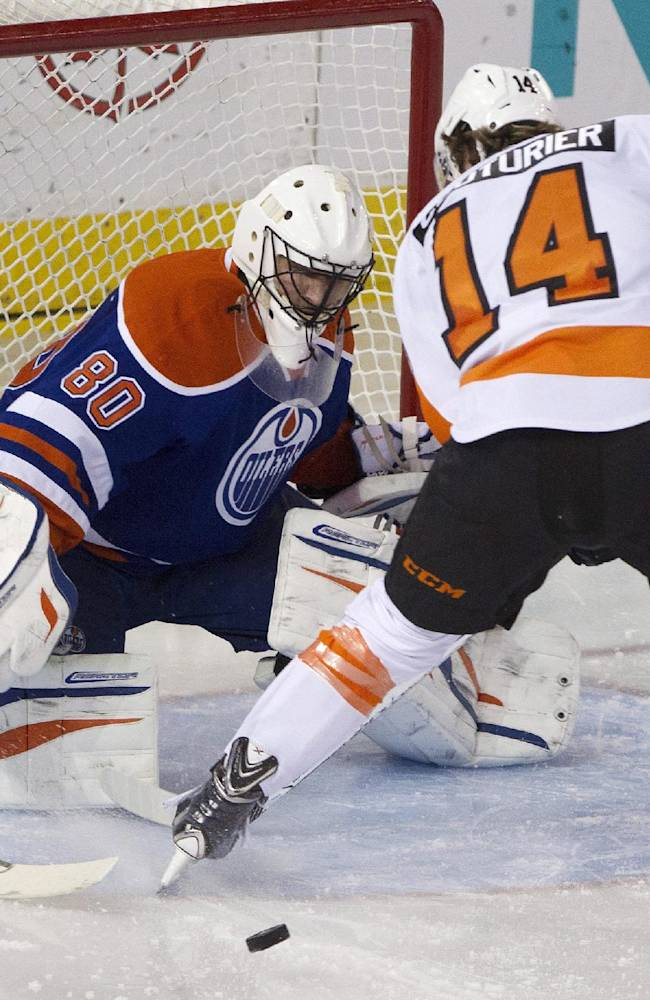 Raffl's SO goal caps Flyers rally over Oilers
