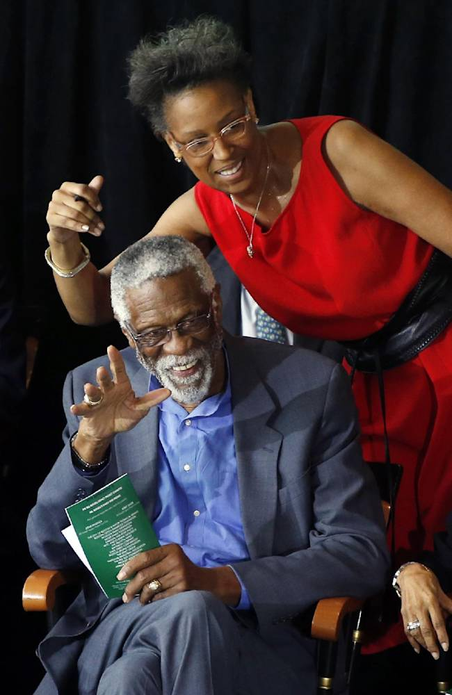 Boston unveils statue of NBA great Bill Russell