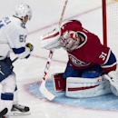 Montreal Canadiens goalie Carey Price makes a save against Tampa Bay Lightning's Valtteri Filppula during the first period of an NHL hockey game Tuesday, Jan. 6, 2015, in Montreal The Associated Press
