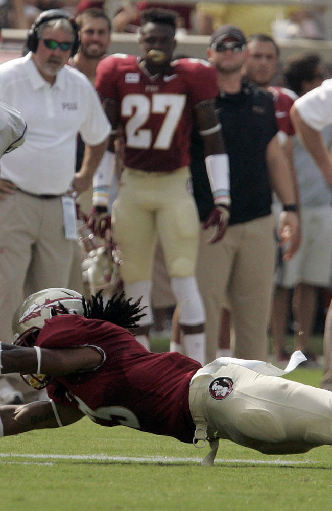 No. 10 FSU puts on show, drubs Nevada 62-7