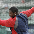 Boston Red Sox designated hitter David Ortiz takes batting practice before an exhibition baseball game against the Atlanta Braves, Friday, March 7, 2014, in Fort, Myers, Fla The Associated Press
