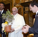 Pope meets Messi, Buffon and Co. ahead of Italy-Argentina