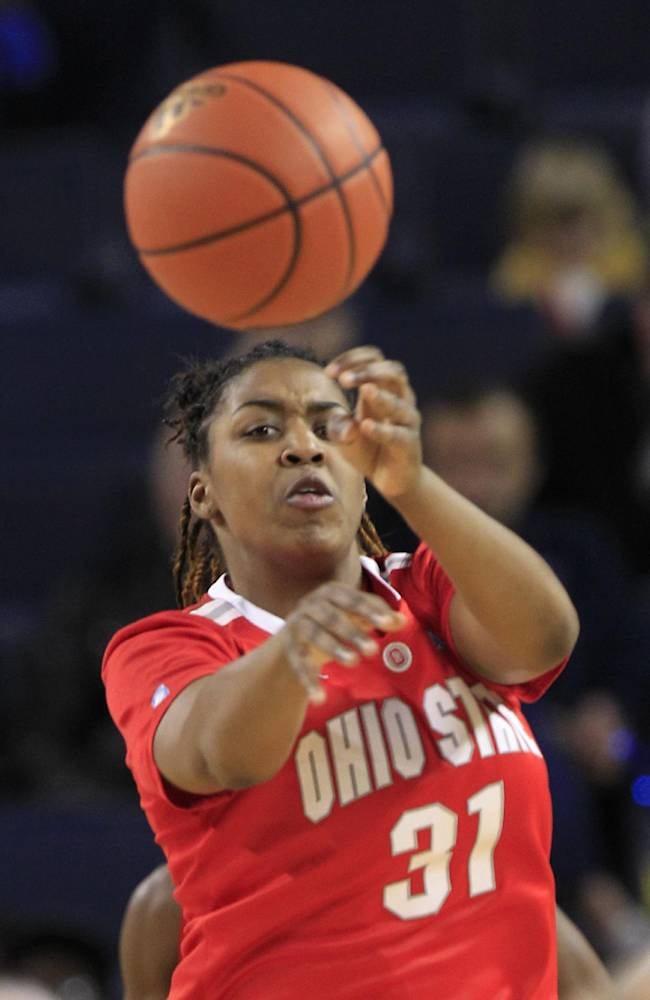 In this Jan. 7, 2012 file photo, Ohio State guard Raven Ferguson (31) passes the ball during the second half of an NCAA college basketball game against Michigan in Ann Arbor, Mich. Ferguson is one of three returning starters from an 18-13 team, but the Buckeyes must rely on defense to win games after losing their leading scorer from last season