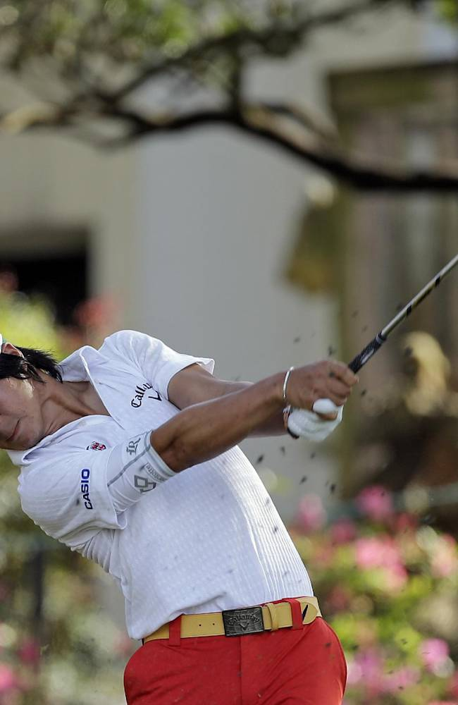 Ryo Ishikawa, of Japan, follows through on a shot on the 17th hole during the first round of the Arnold Palmer Invitational golf tournament at Bay Hill on Thursday, March 20, 2014, in Orlando, Fla