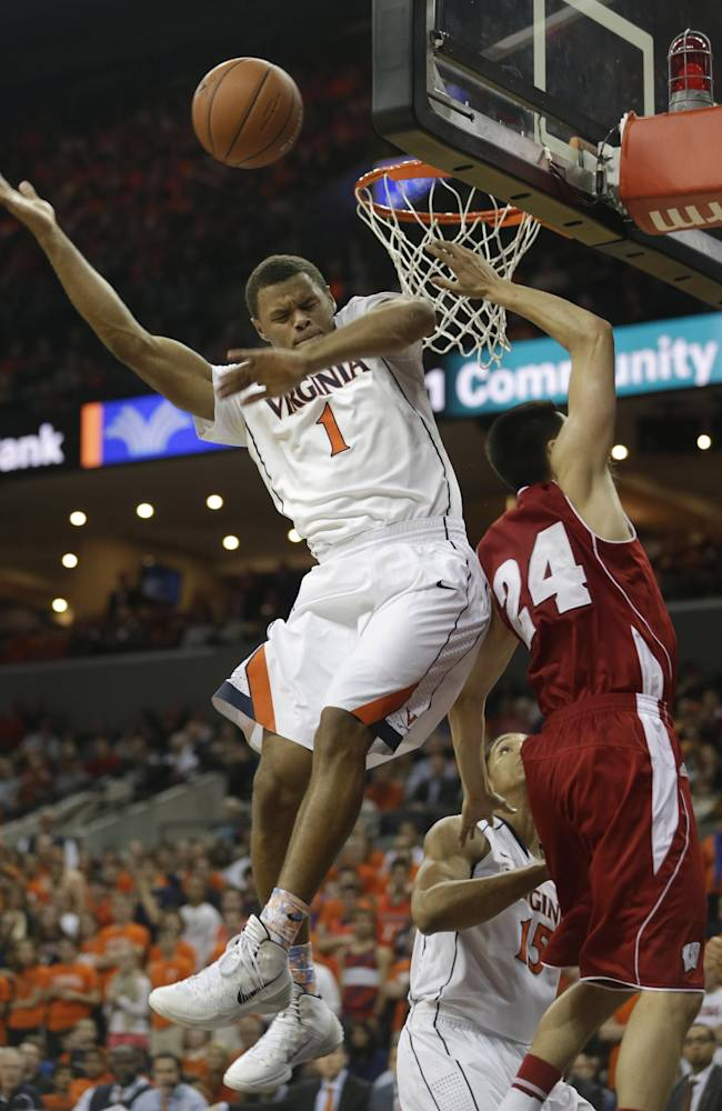 No. 8 Wisconsin stymies Virginia, 48-38