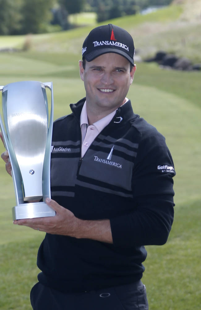 Zach Johnson rallies to win BMW Championship