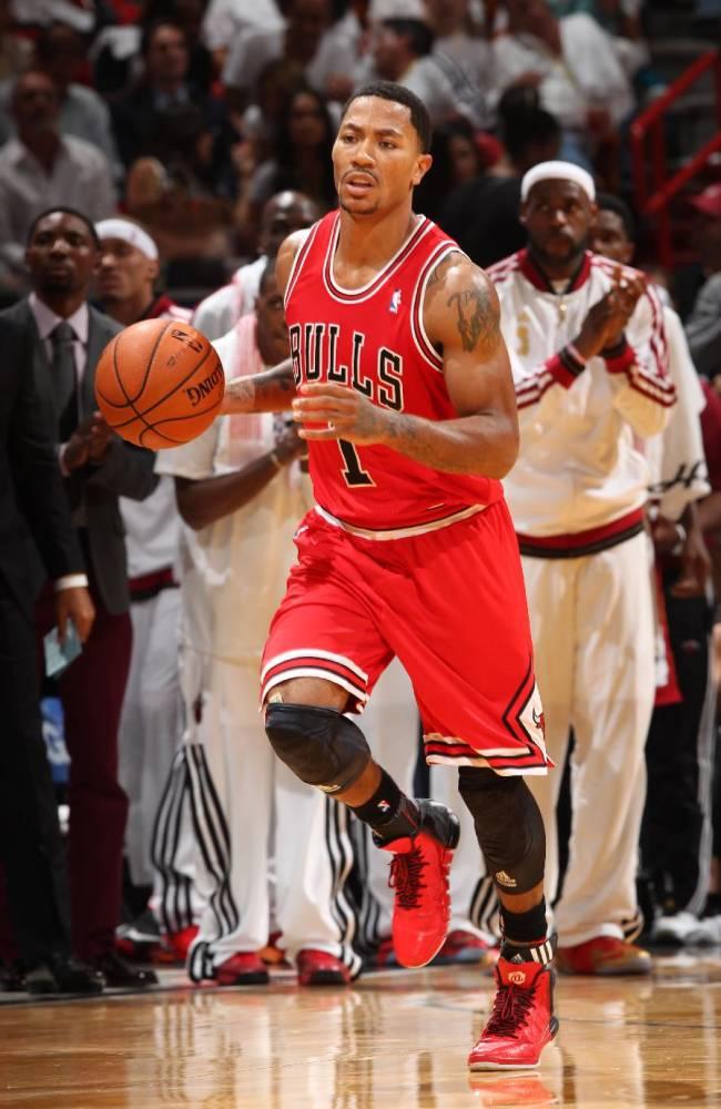 Bulls PG Rose to start despite sore neck
