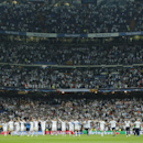 Real Madrid players celebrate after the Champions League semifinal second leg soccer match between Real Madrid and Manchester City at the Santiago Bernabeu stadium in Madrid, Wednesday May 4, 2016. Real won the match 1-0 to advance to the final. (AP Photo