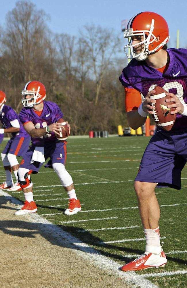 Clemson opens spring with QB battle