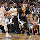 DALLAS, TX - DECEMBER 13: Stephen Curry #30 of the Golden State Warriors handles the ball against the Dallas Mavericks on December 13, 2014 at the American Airlines Center in Dallas, Texas. (Photo by Danny Bollinger/NBAE via Getty Images)